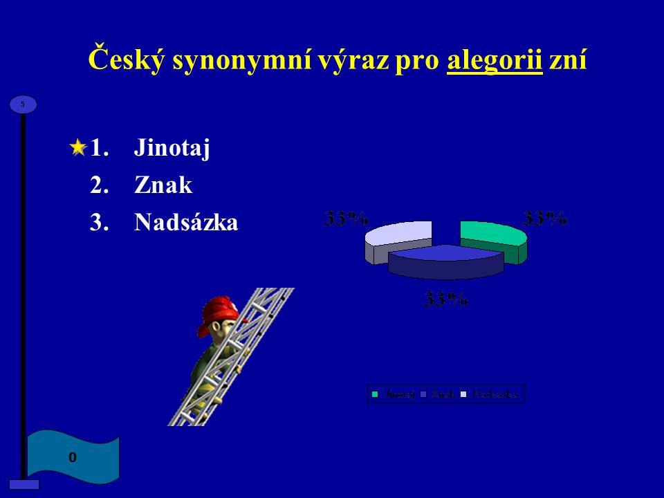 Český synonymní výraz pro alegorii zní