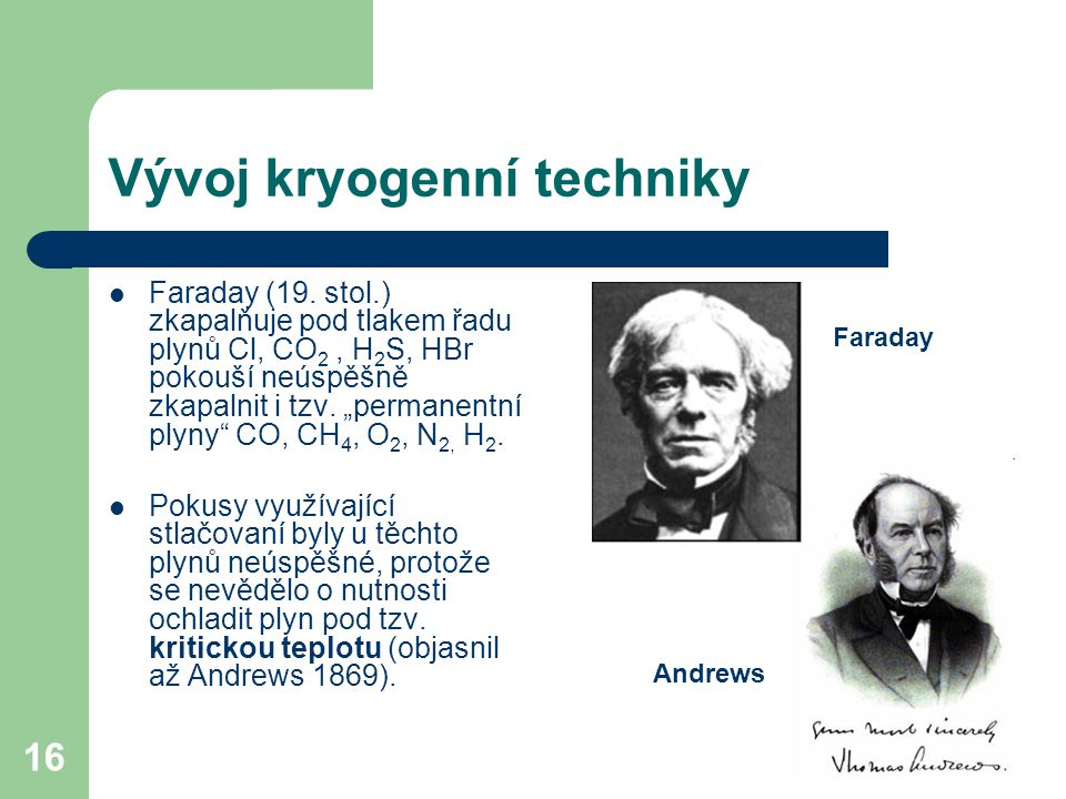 Vývoj kryogenní techniky
