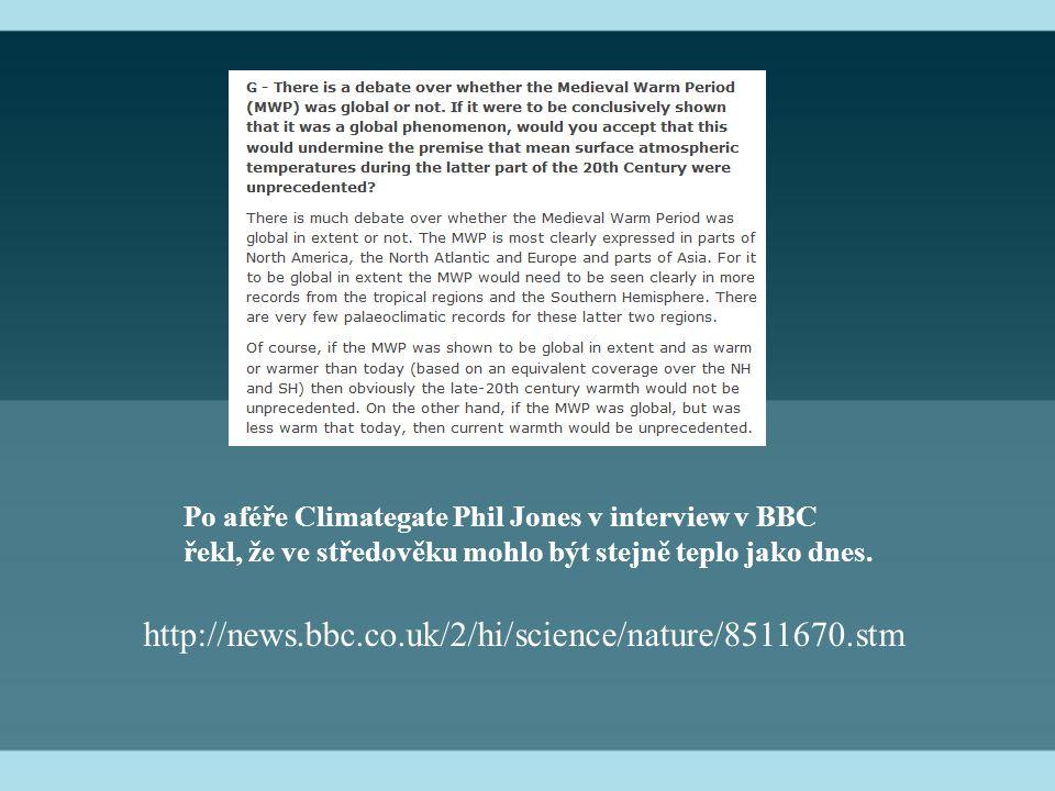 Po aféře Climategate Phil Jones v interview v BBC