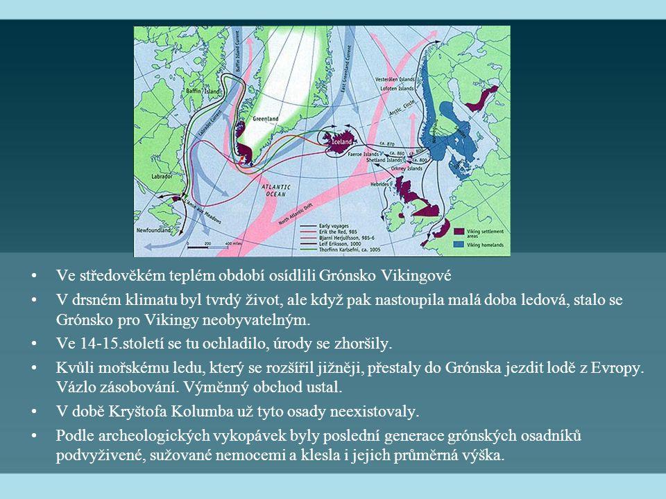 Ve středověkém teplém období osídlili Grónsko Vikingové