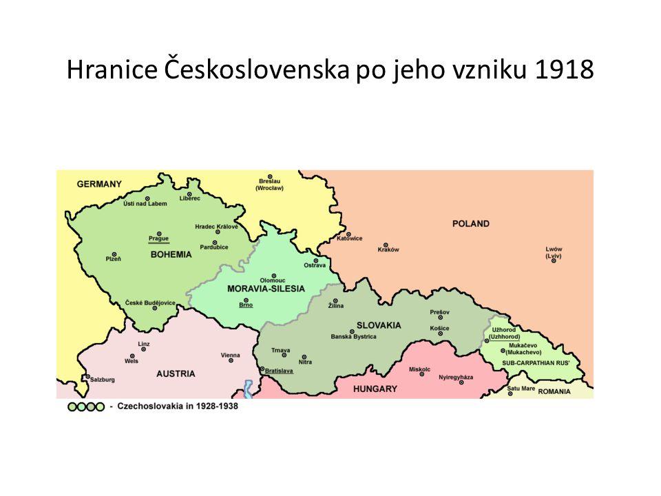 Hranice Československa po jeho vzniku 1918