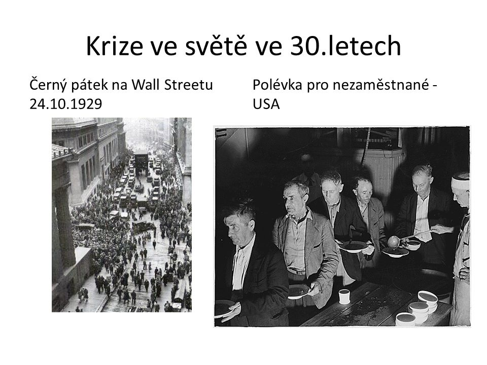 Krize ve světě ve 30.letech