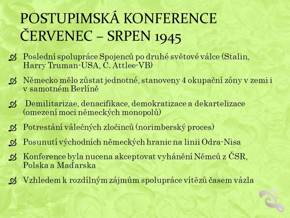 Postupimská konference červenec – srpen 1945