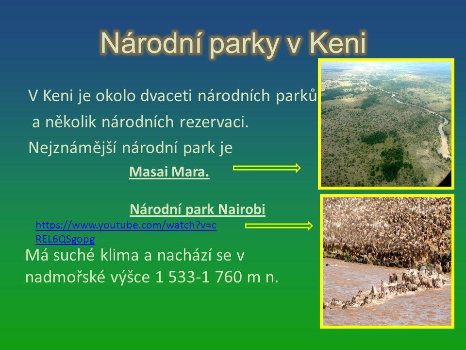 Národní parky v Keni V Keni je okolo dvaceti národních parků