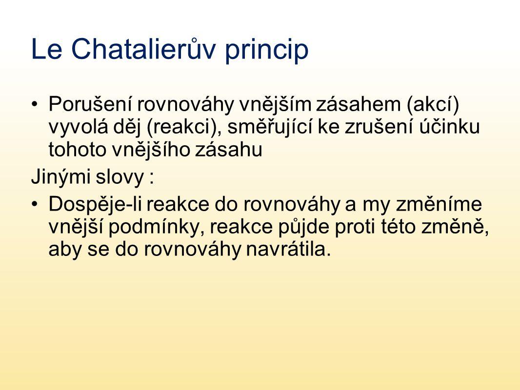 Le Chatalierův princip