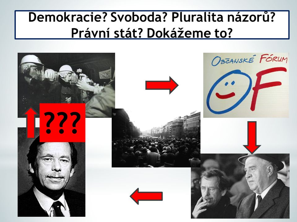 Demokracie Svoboda Pluralita názorů Právní stát Dokážeme to