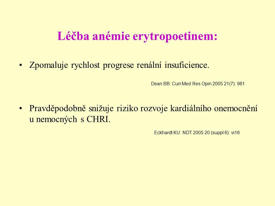 Léčba anémie erytropoetinem: