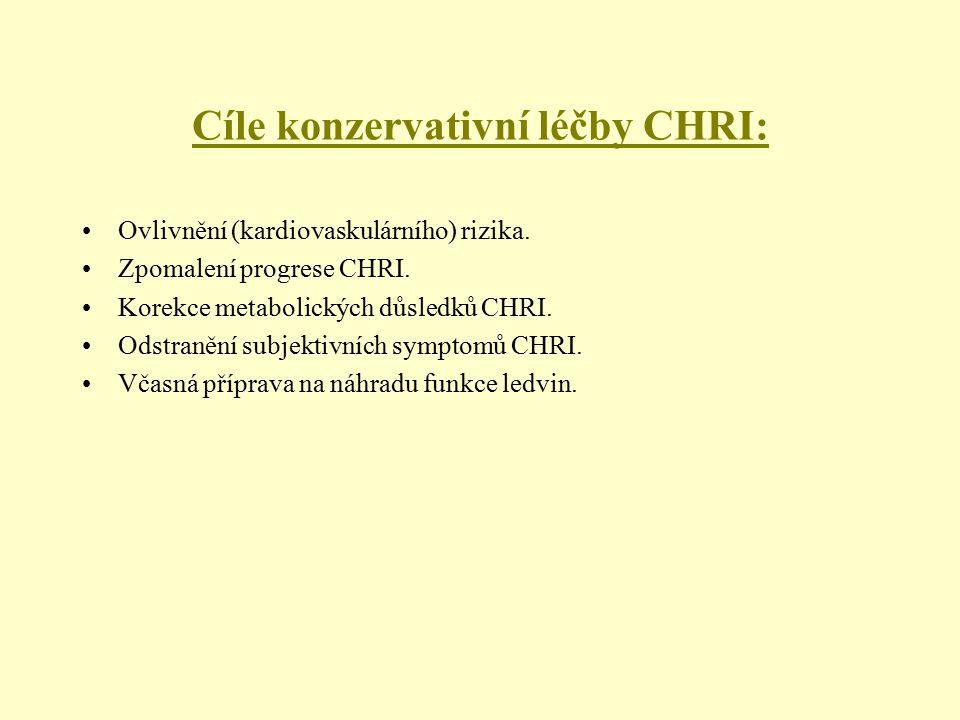 Cíle konzervativní léčby CHRI: