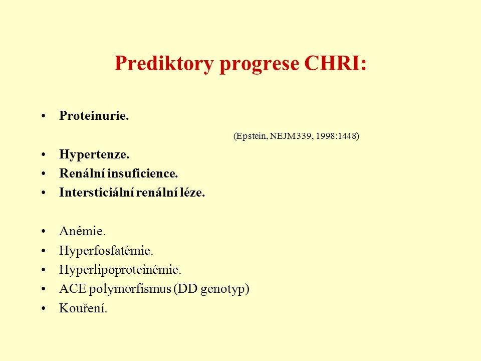 Prediktory progrese CHRI: