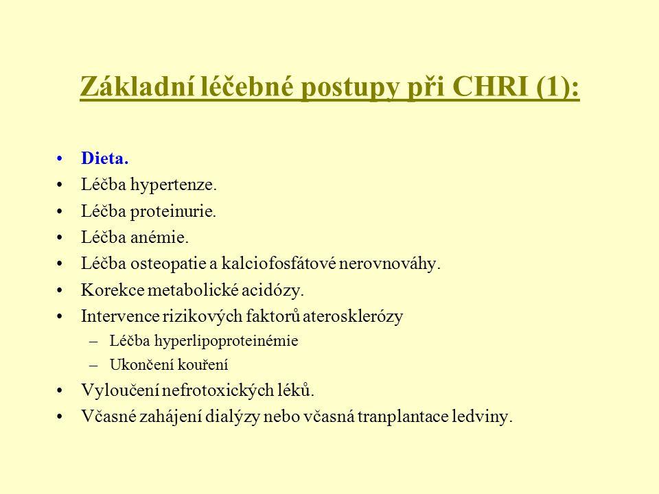 Základní léčebné postupy při CHRI (1):