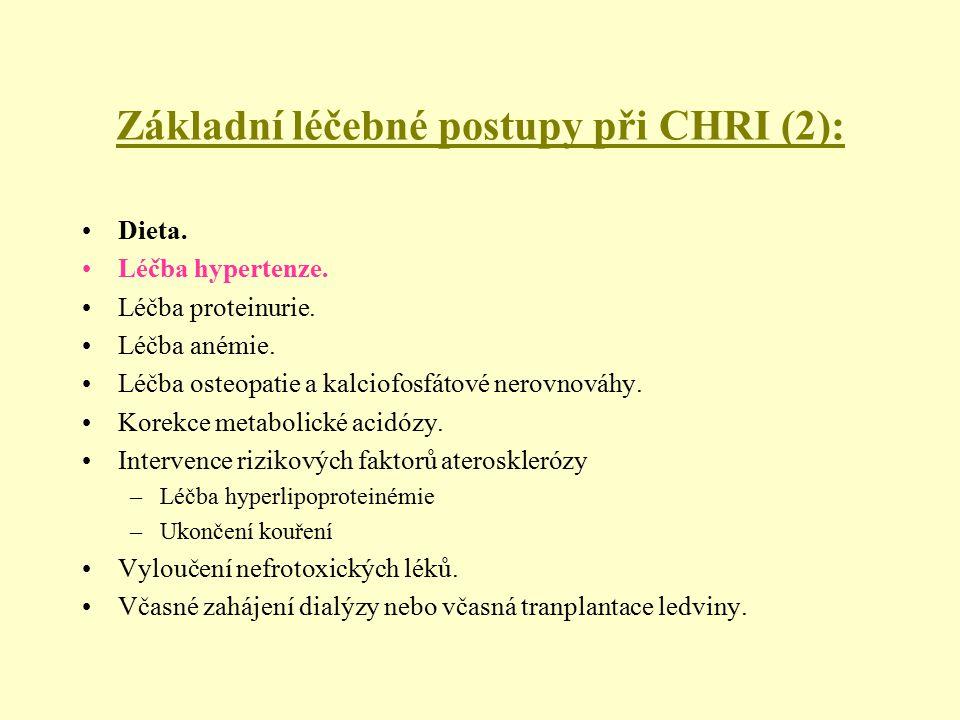 Základní léčebné postupy při CHRI (2):