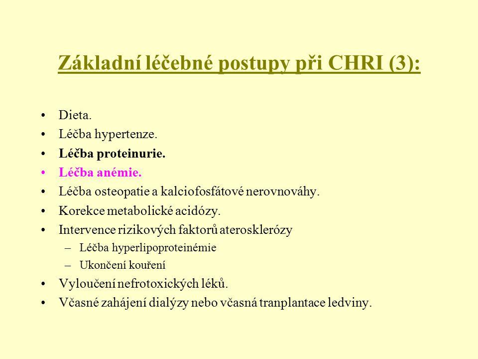 Základní léčebné postupy při CHRI (3):