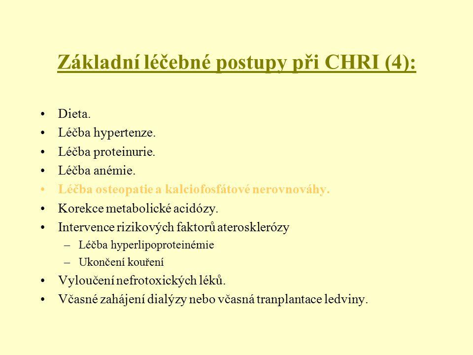 Základní léčebné postupy při CHRI (4):