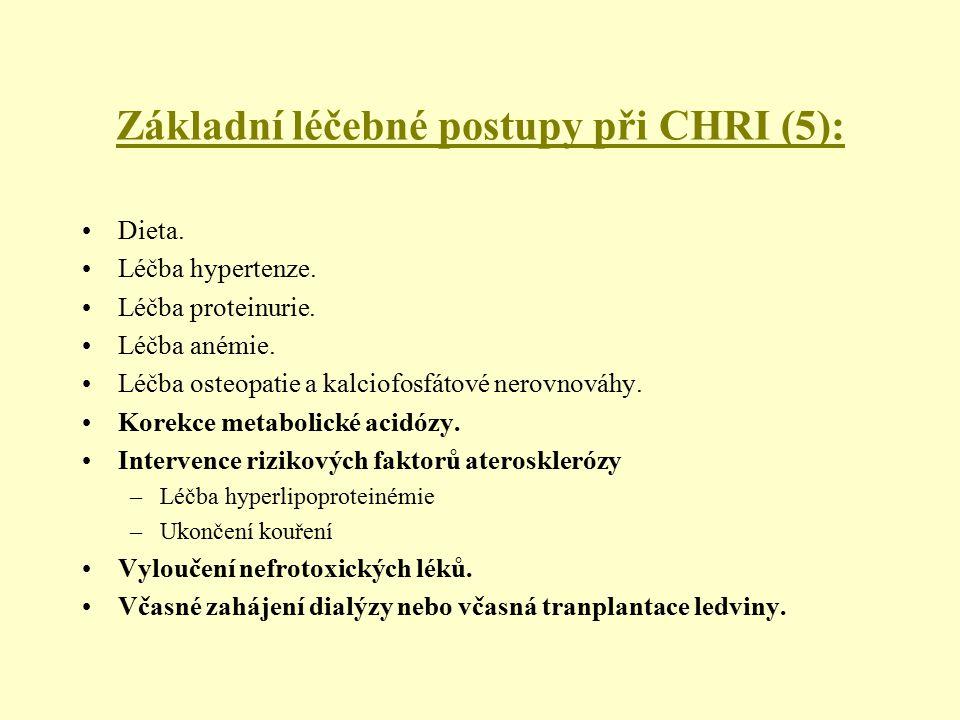 Základní léčebné postupy při CHRI (5):