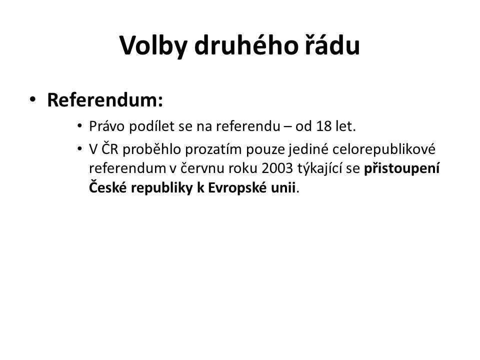 Volby druhého řádu Referendum: