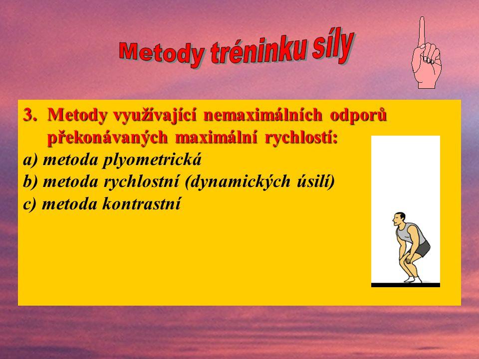 a) metoda plyometrická b) metoda rychlostní (dynamických úsilí)