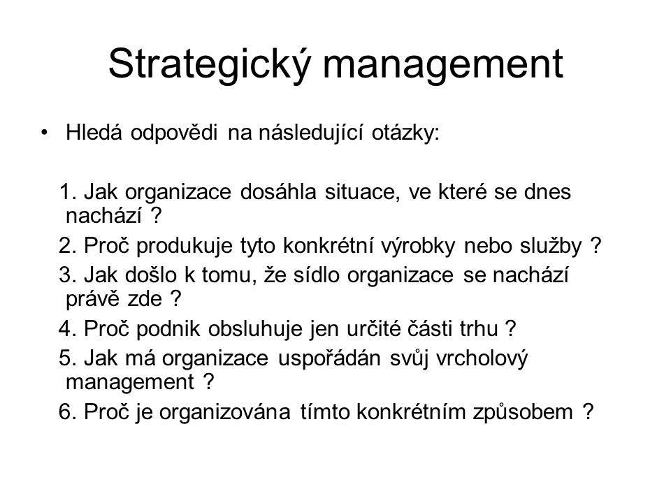 Strategický management
