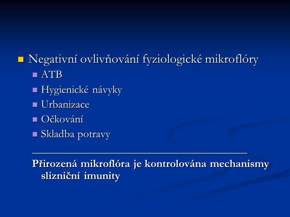 Negativní ovlivňování fyziologické mikroflóry
