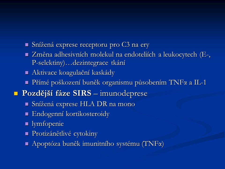 Pozdější fáze SIRS – imunodeprese