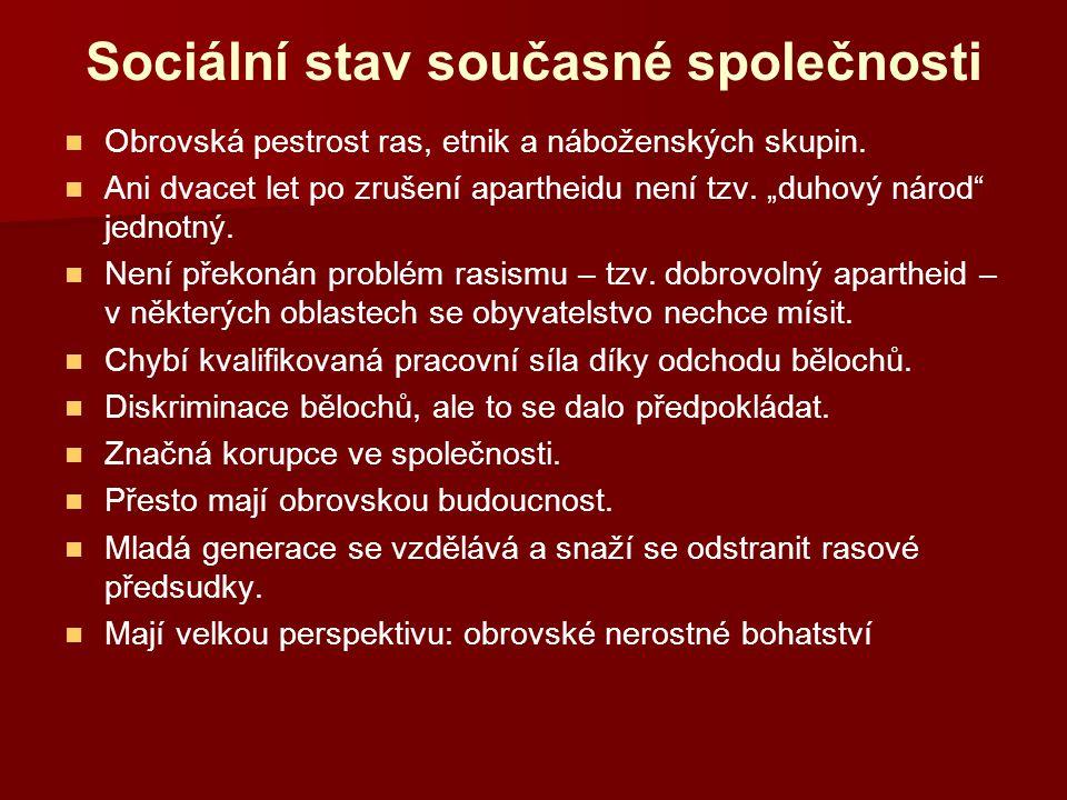 Sociální stav současné společnosti