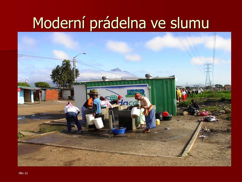 Moderní prádelna ve slumu