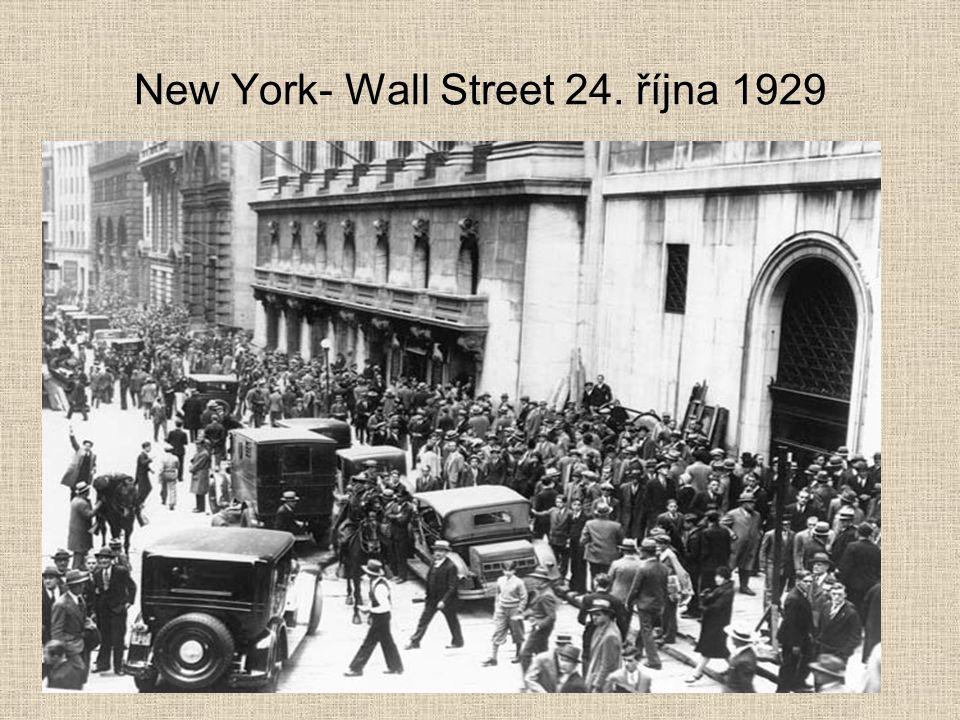 New York- Wall Street 24. října 1929