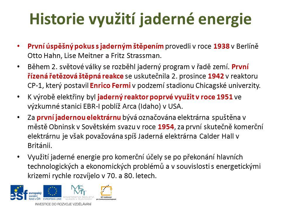 Historie využití jaderné energie