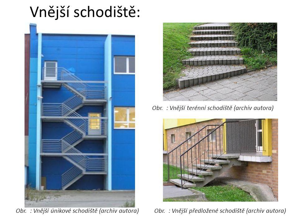 Vnější schodiště: Obr. : Vnější terénní schodiště (archiv autora)