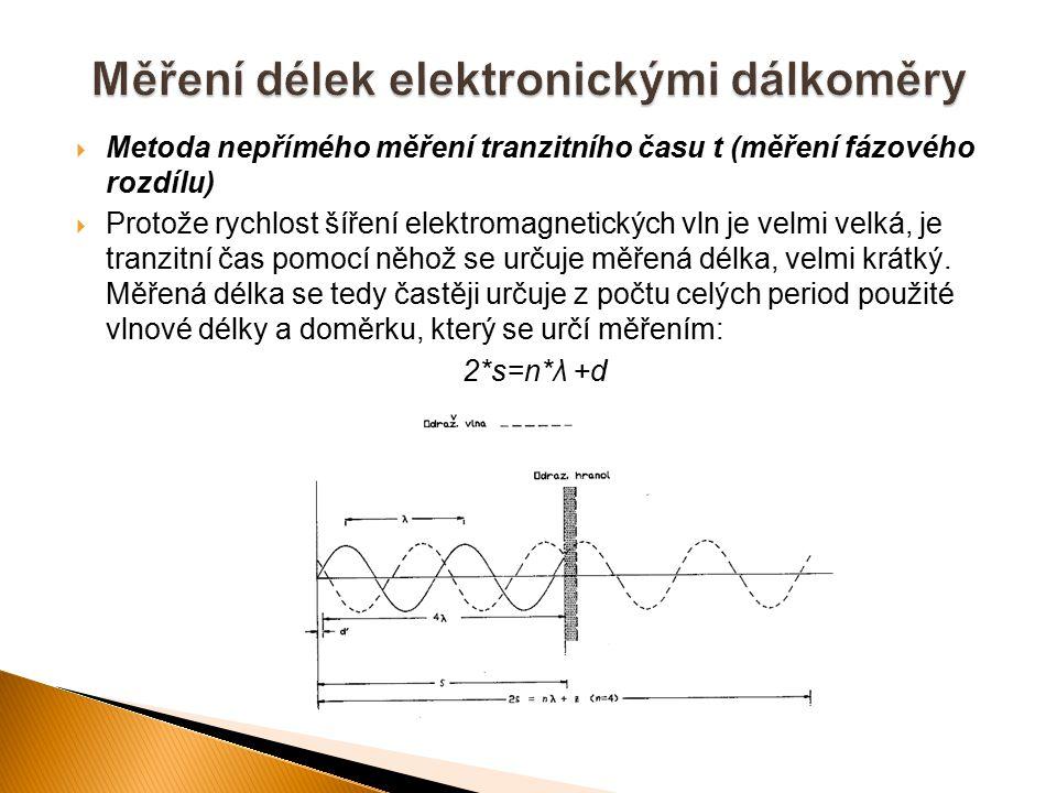 Měření délek elektronickými dálkoměry
