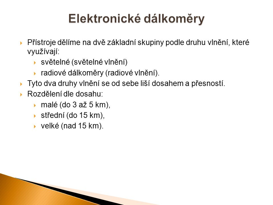 Elektronické dálkoměry