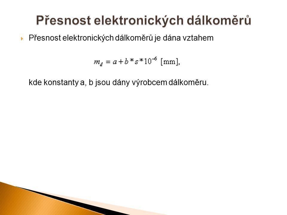 Přesnost elektronických dálkoměrů