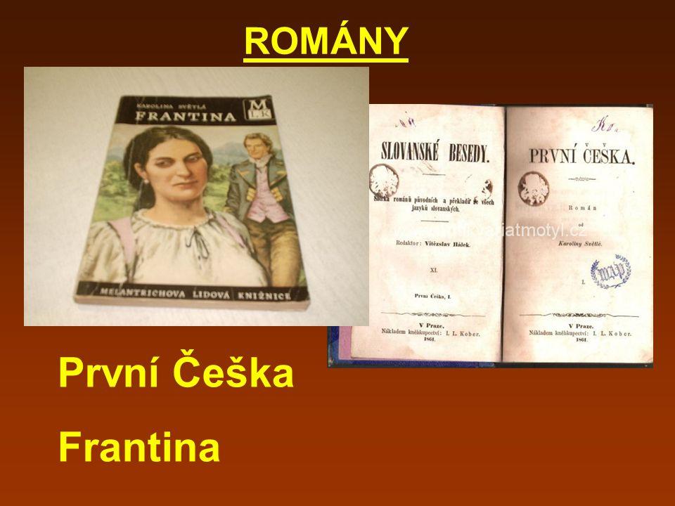 ROMÁNY První Češka Frantina