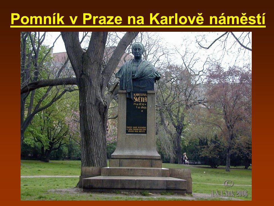 Pomník v Praze na Karlově náměstí