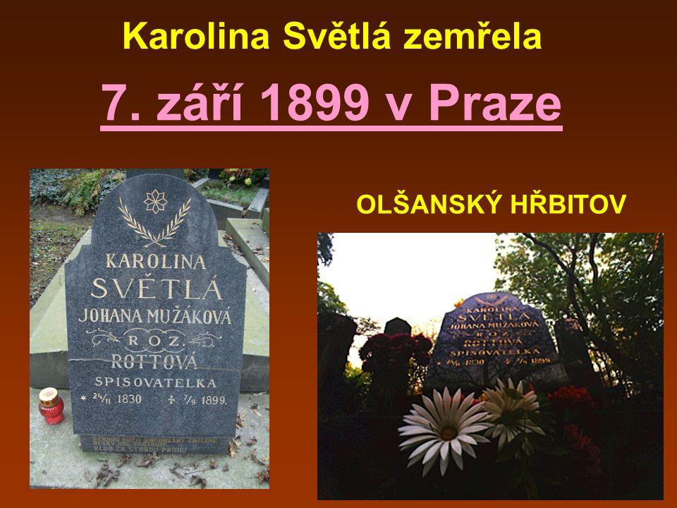 Karolina Světlá zemřela