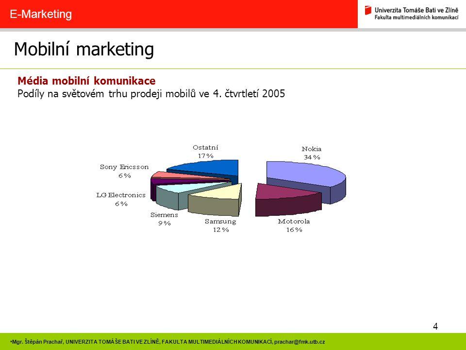 Mobilní marketing E-Marketing Média mobilní komunikace