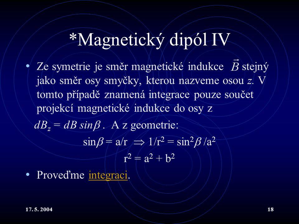 *Magnetický dipól IV