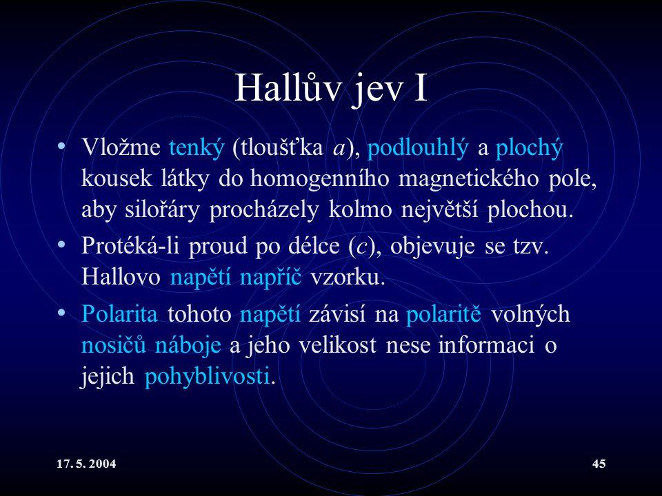 Hallův jev I