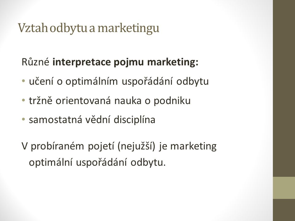 Vztah odbytu a marketingu