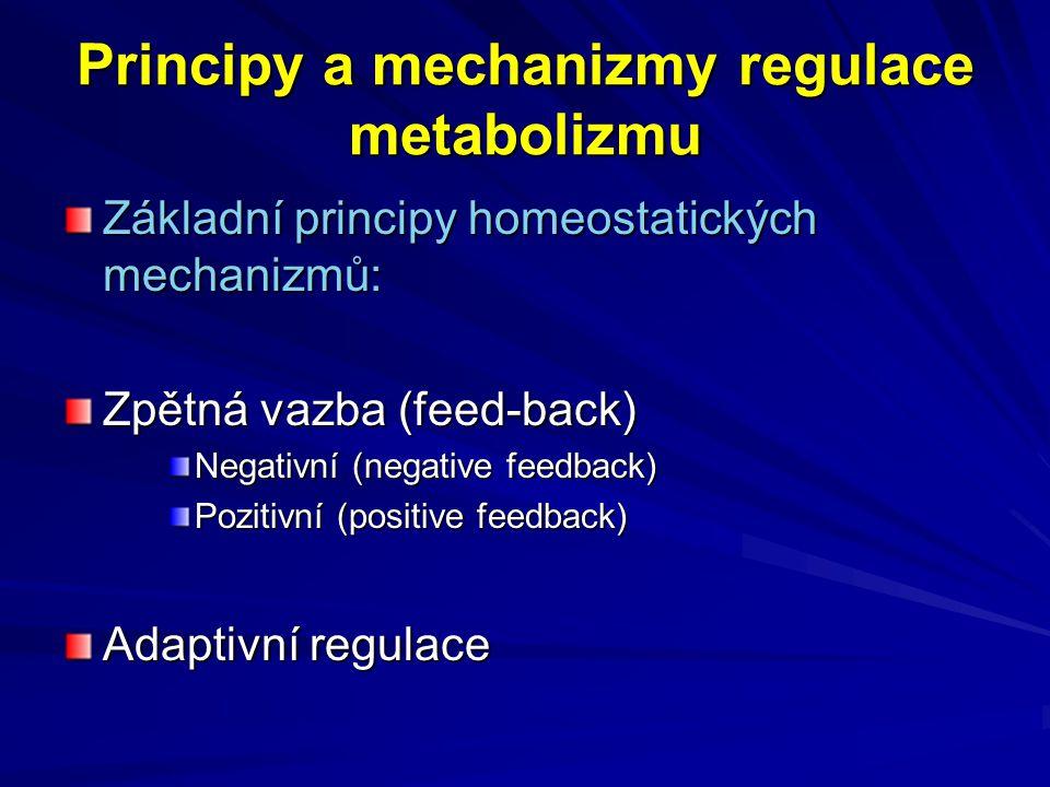 Principy a mechanizmy regulace metabolizmu