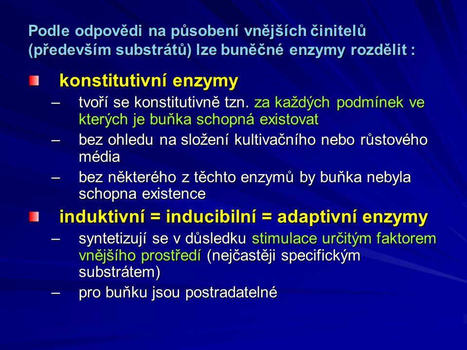 induktivní = inducibilní = adaptivní enzymy