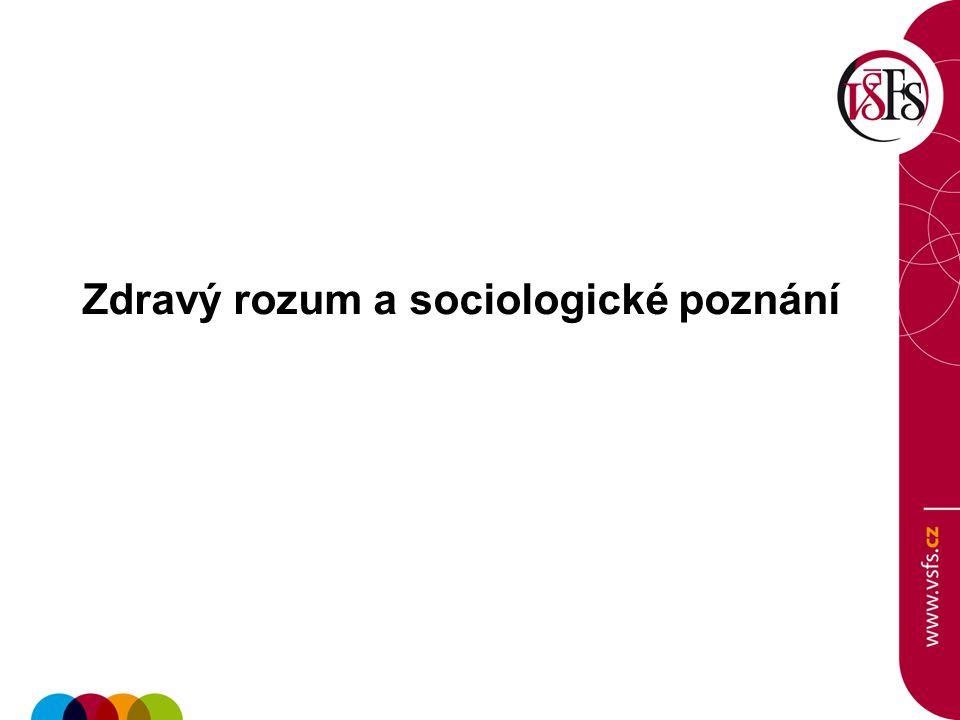 Zdravý rozum a sociologické poznání
