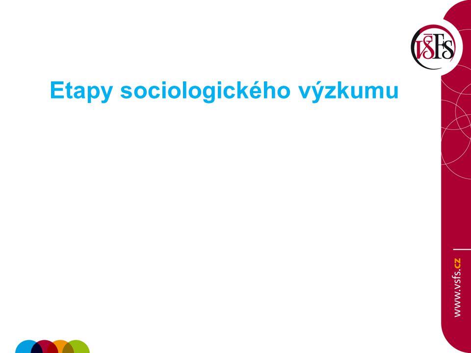 Etapy sociologického výzkumu