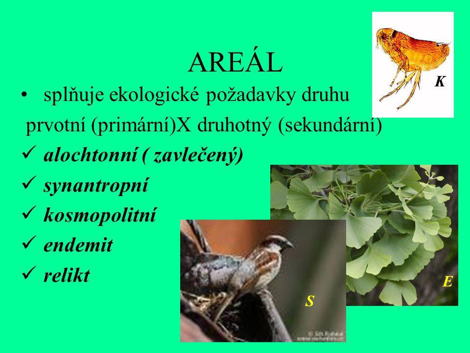 AREÁL splňuje ekologické požadavky druhu