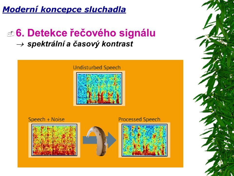6. Detekce řečového signálu ® spektrální a časový kontrast
