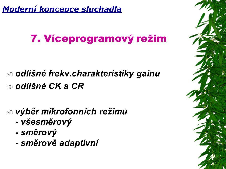 7. Víceprogramový režim odlišné frekv.charakteristiky gainu