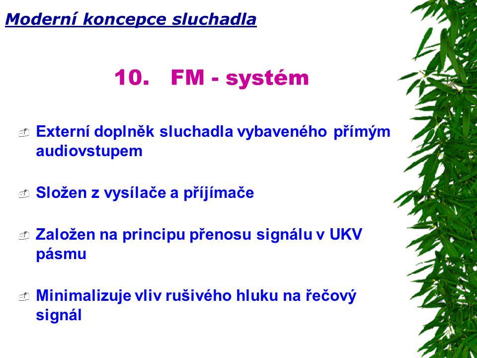 10. FM - systém Moderní koncepce sluchadla