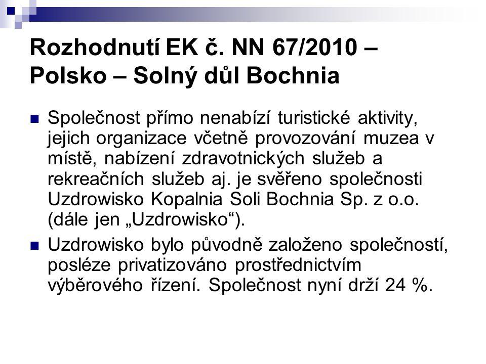 Rozhodnutí EK č. NN 67/2010 – Polsko – Solný důl Bochnia