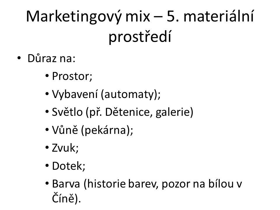 Marketingový mix – 5. materiální prostředí