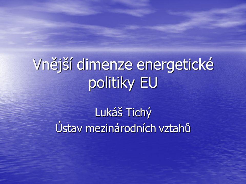 Vnější dimenze energetické politiky EU