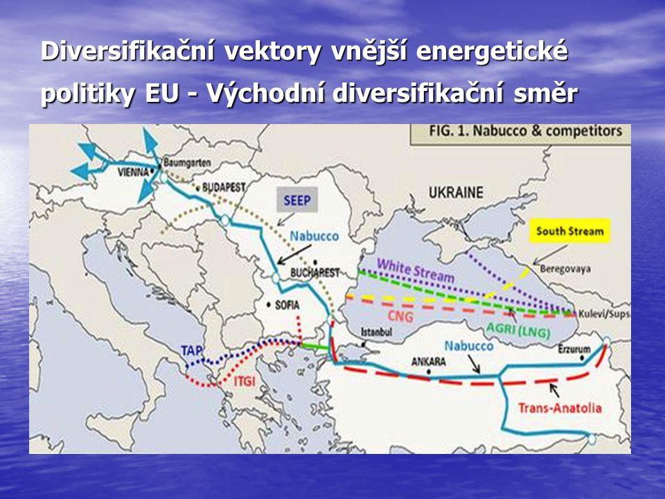 Diversifikační vektory vnější energetické politiky EU - Východní diversifikační směr